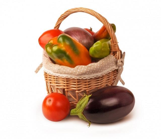 fresh vegetables harvested from the garden