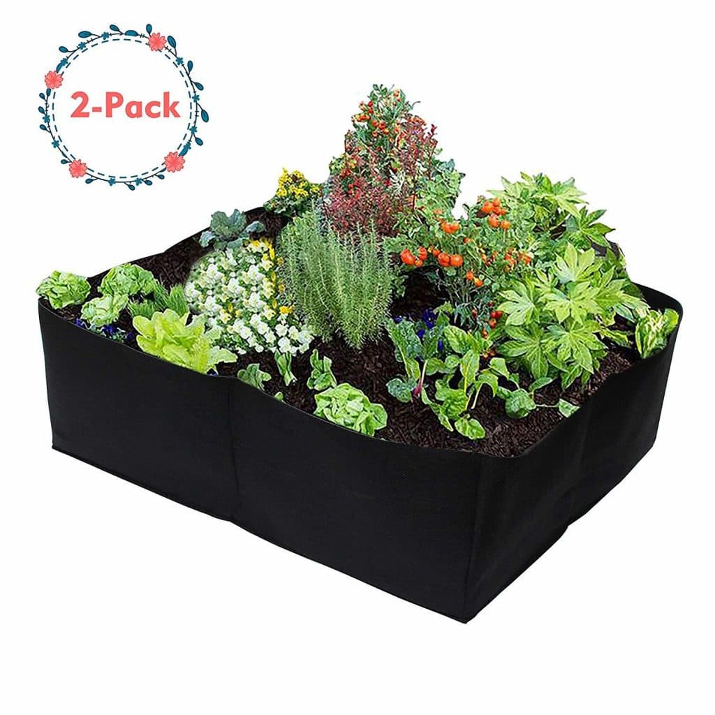 Gardzen 2 Pack Divided Raised Vegetable Bed